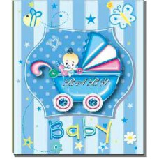ФОТОАЛЬБОМ EVG 30SHEET S29X32 BABY CAR BLUE