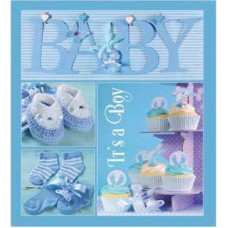ФОТОАЛЬБОМ EVG 20SHEET BABY COLLAGE BLUE W/BOX